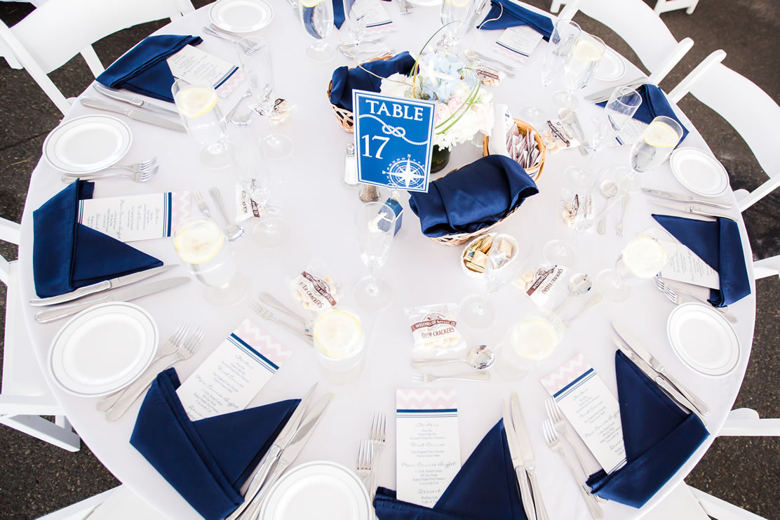 Nautical Table Settings Massachusetts Offsite Catering Photos The Essex Room