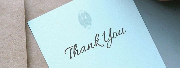 sending thank you notes after a wedding