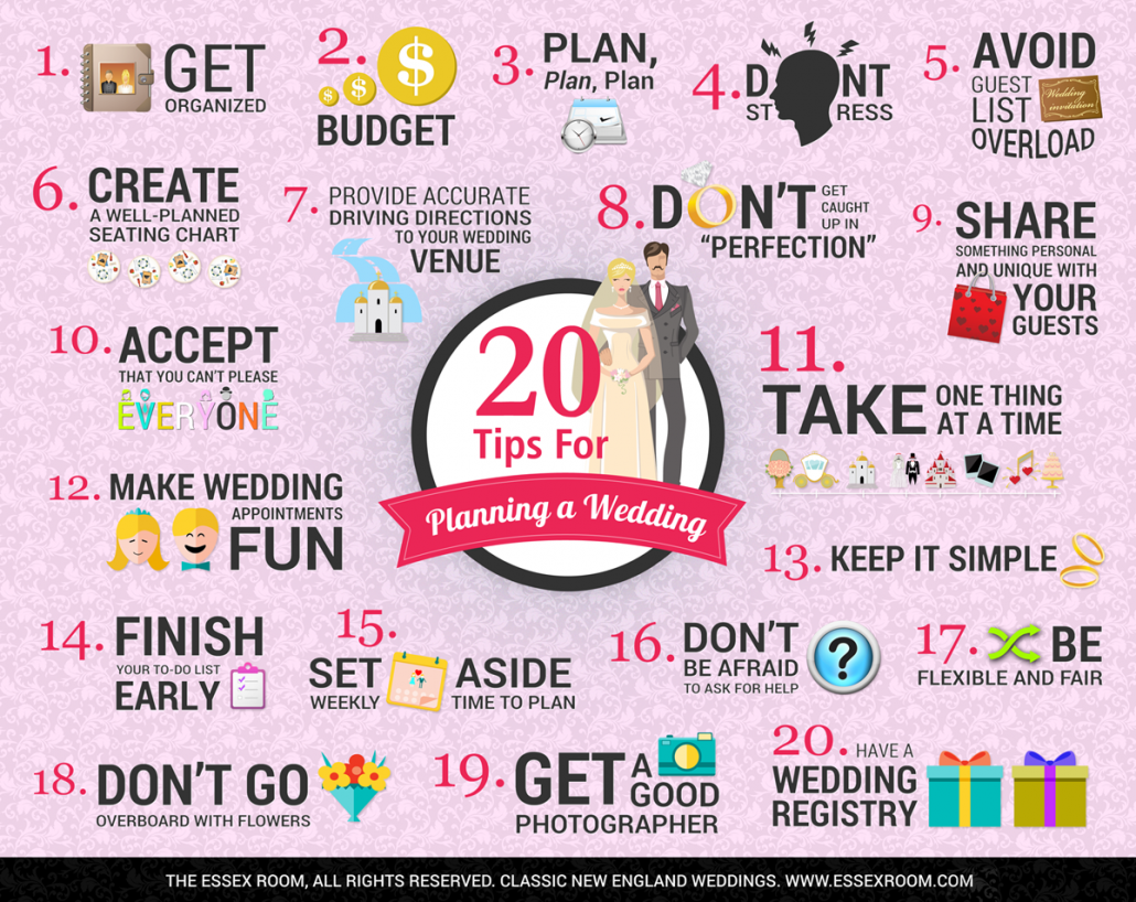 Wedding Planning Tips - Infographic